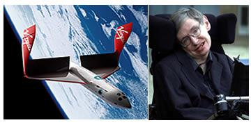 Virgin Galactic Richard Branson regala un biglietto per una crociera spaziale al grande Stephen Hawking