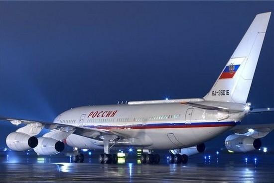 Grande lusso per l'aereo di Putin